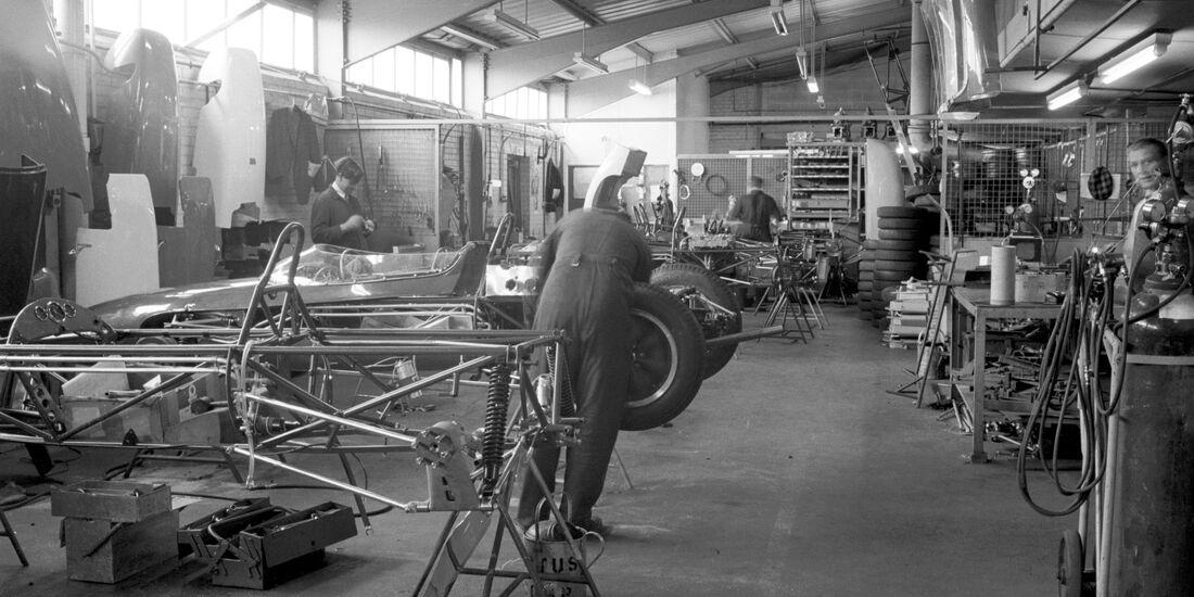1961 Cooper Werkstatt