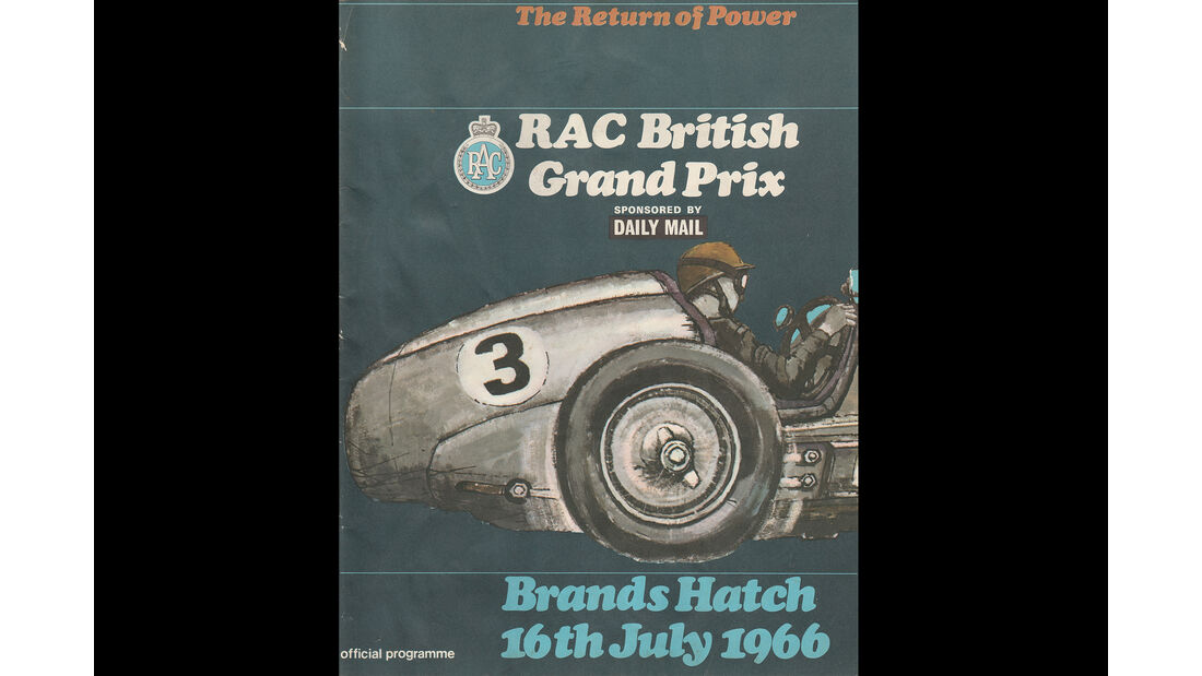 1966 - GP England - F1-Programm - Cover