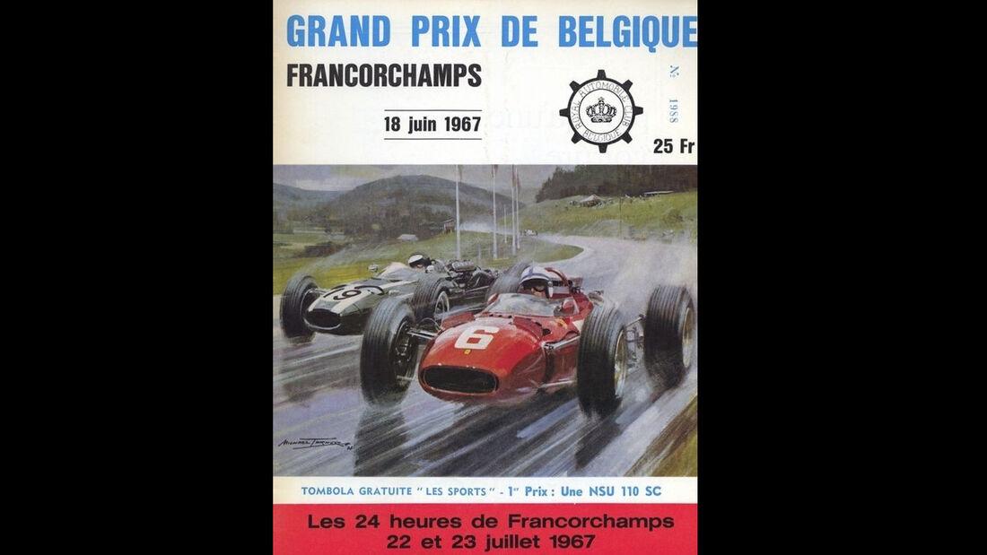 1967 - GP Belgien - F1-Programm - Cover