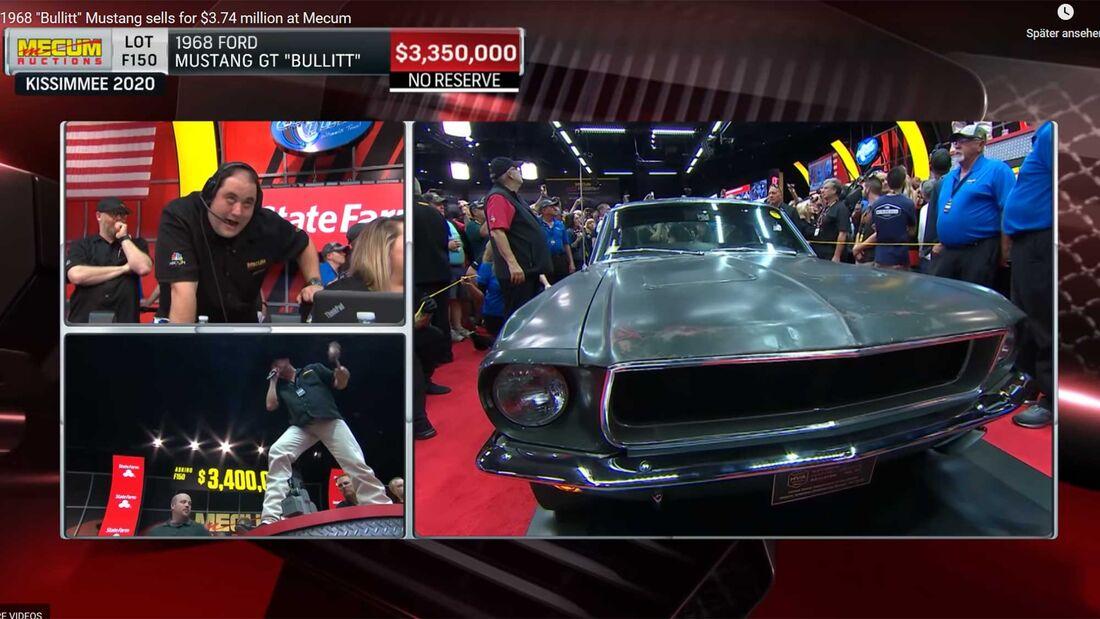 1968 Ford Mustang GT Bullitt Auktion