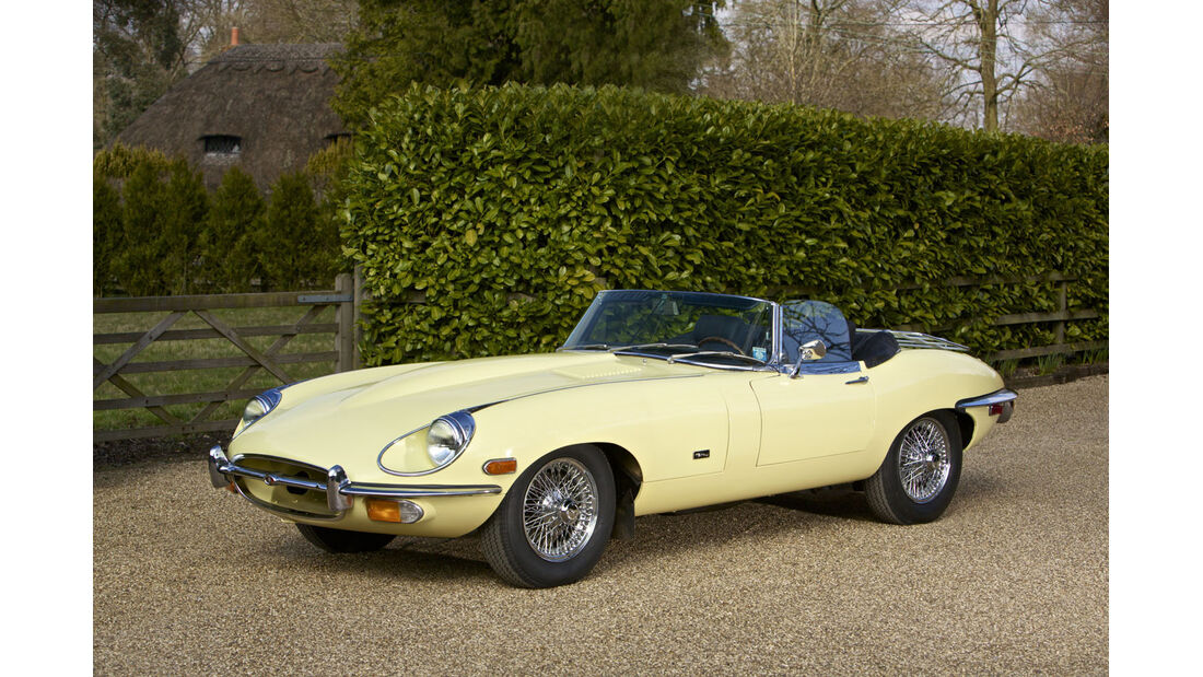 1971 Jaguar E-Type Series 2 4.2-Liter Roadster.