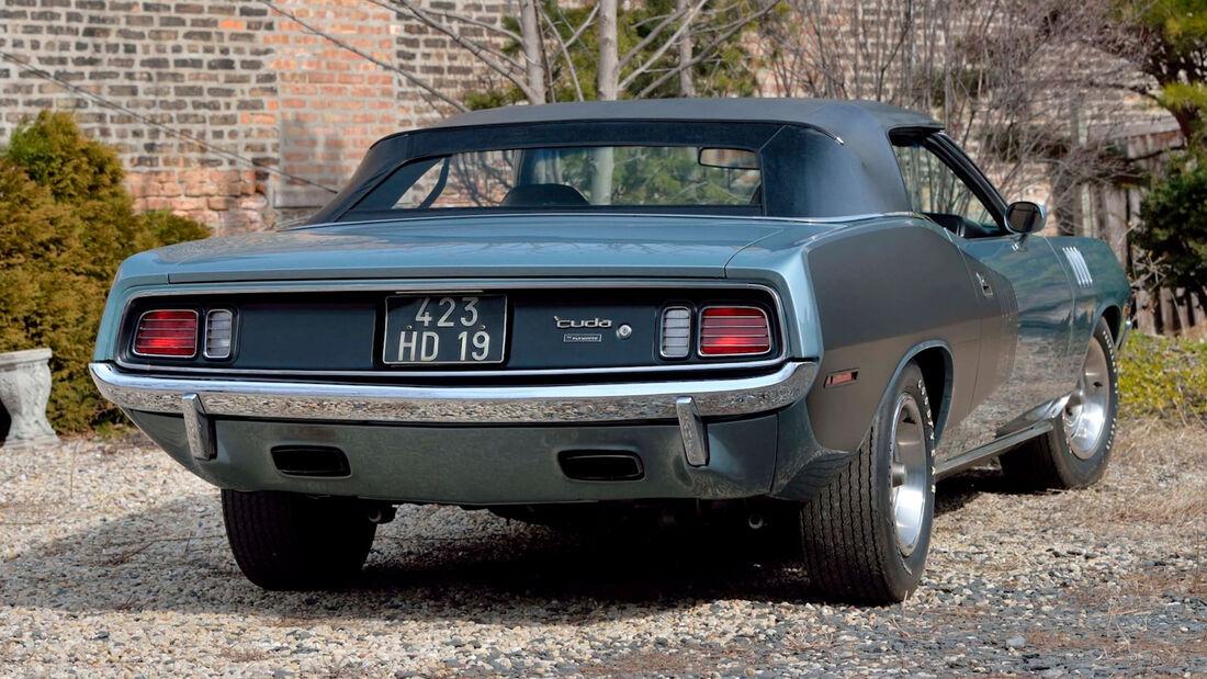 1971er Plymouth Hemi Cuda Convertible mit Handschaltung