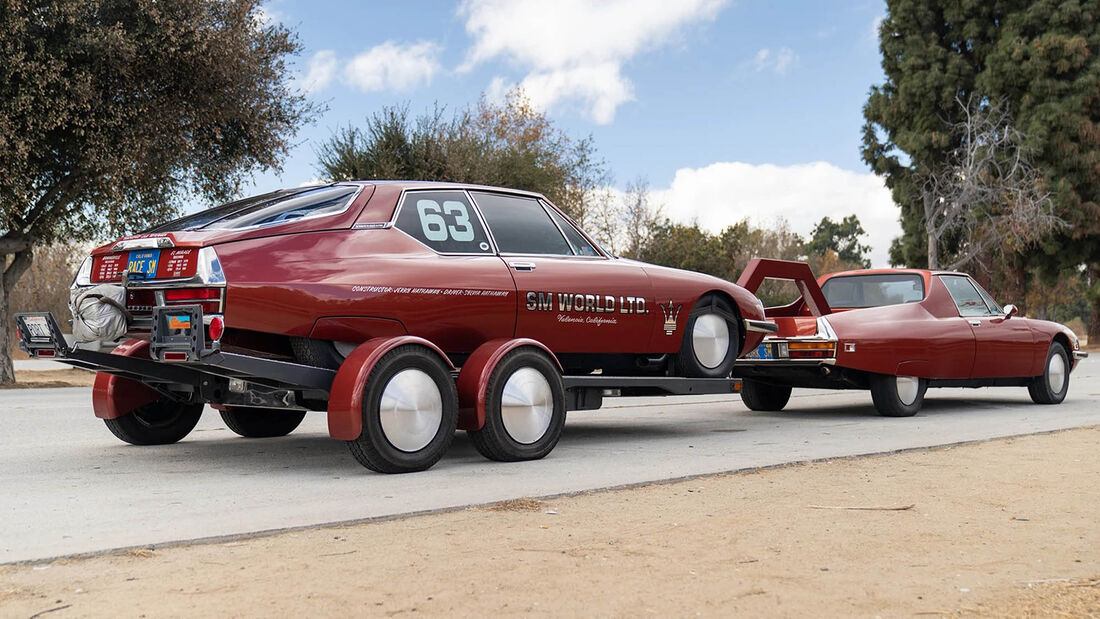 1973er Citroën SM Custom Pickup und 1972er Citroën SM Land Speed Racer