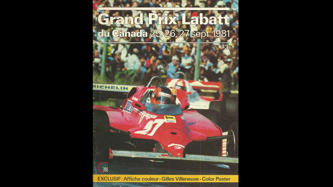 1981 - GP Kanada - F1-Programm - Cover
