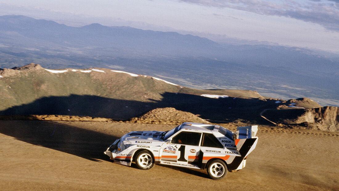 1987 Walter Röhrl Pikes Peak Audi Quattro S1