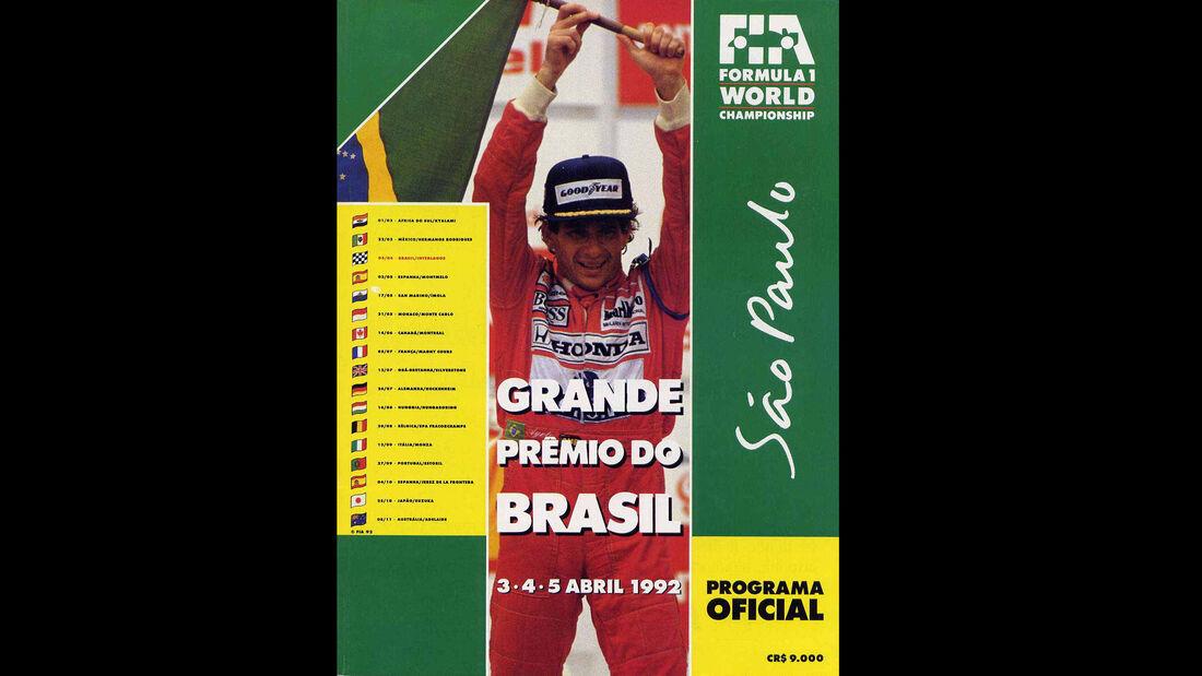 1992 - GP Braslien - F1-Programm - Cover