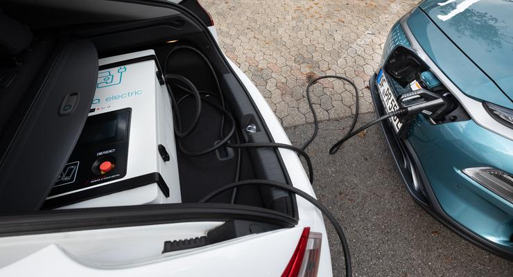 Mobile Stromspender Von Hyundai Und Dem Adac Auto Motor Und Sport