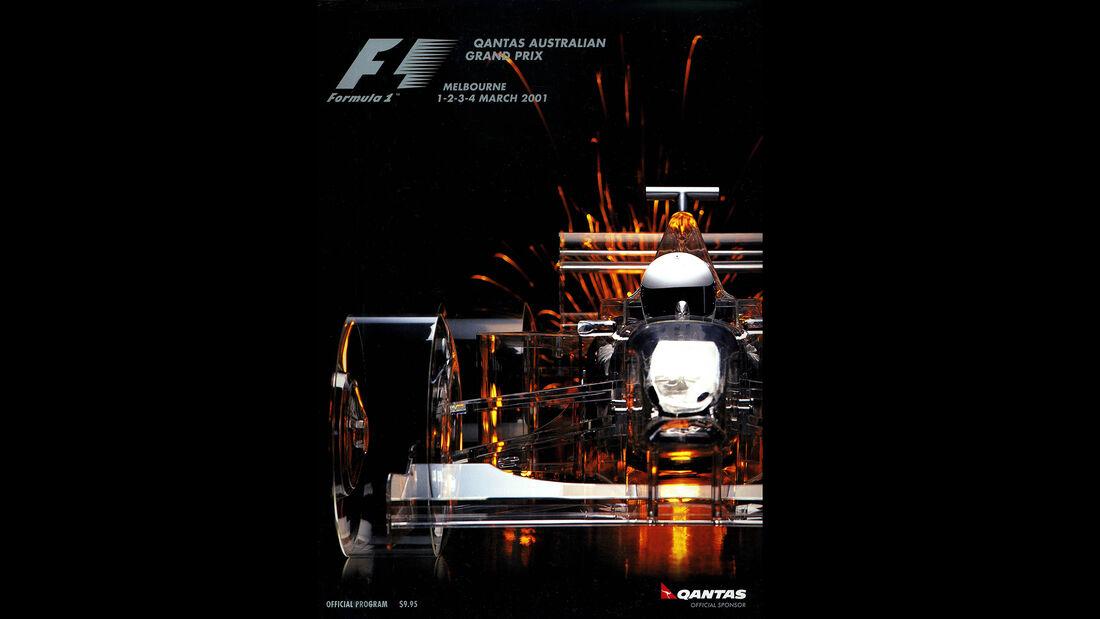2001 - GP Australien - F1-Programm - Cover