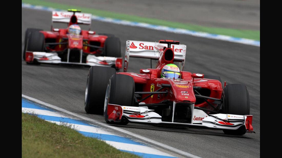 2010 Massa Alonso GP Deutschland