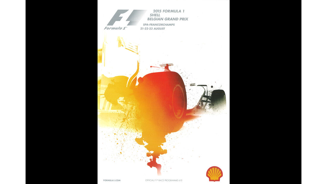 2015 - GP Belgien - F1-Programm - Cover