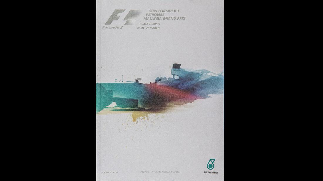 2015 - GP Malaysia - F1-Programm - Cover