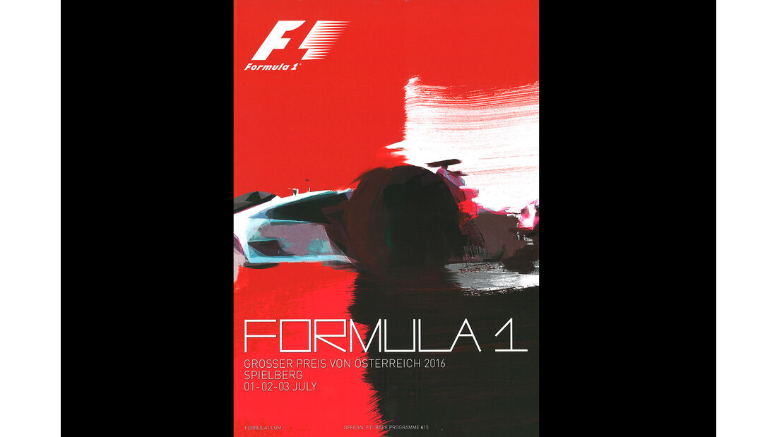 2016 - GP Österreich - F1-Programm - Cover