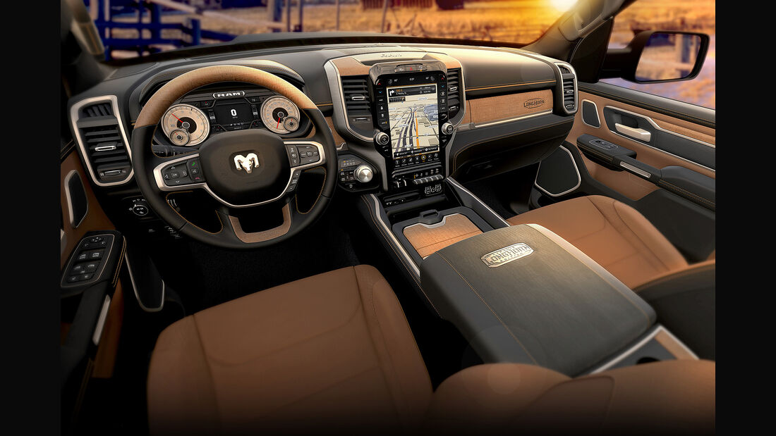 2019 Ram 1500 Laramie Longhorn with Black/Cattle Tan interior