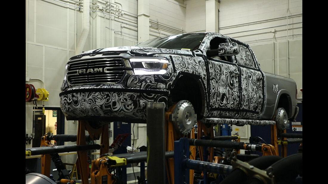 2019 Ram 1500 durability testing on-the-road test simulator
