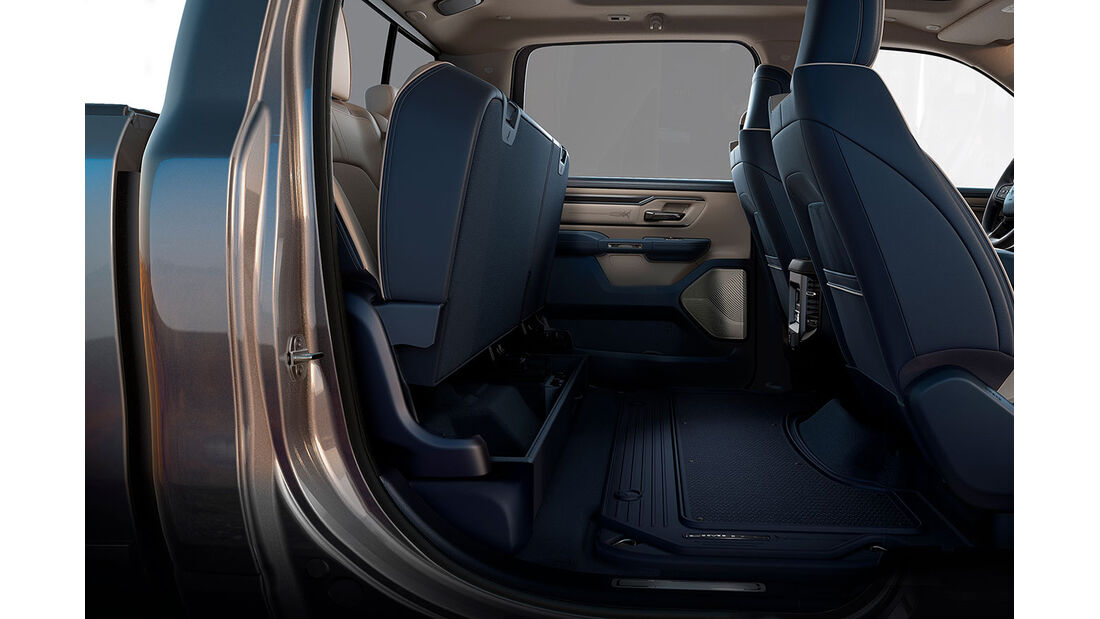 2019 Ram 1500 – rear seat lifted with flat-load floor