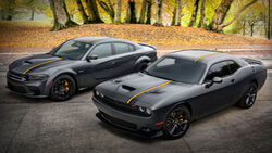 2023 Dodge Challenger GT RWD und Charger Scat Pack Widebody mit Hemi Orange Appearance Package