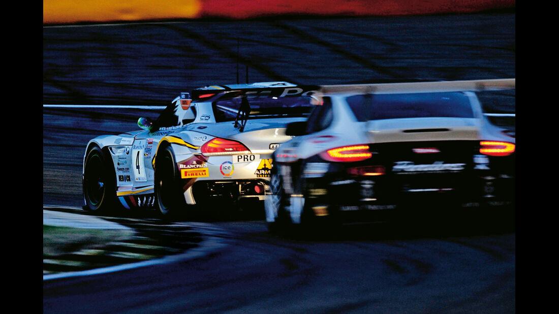 24 h Spa, BMW Z4 GT3, Nachtfahrt