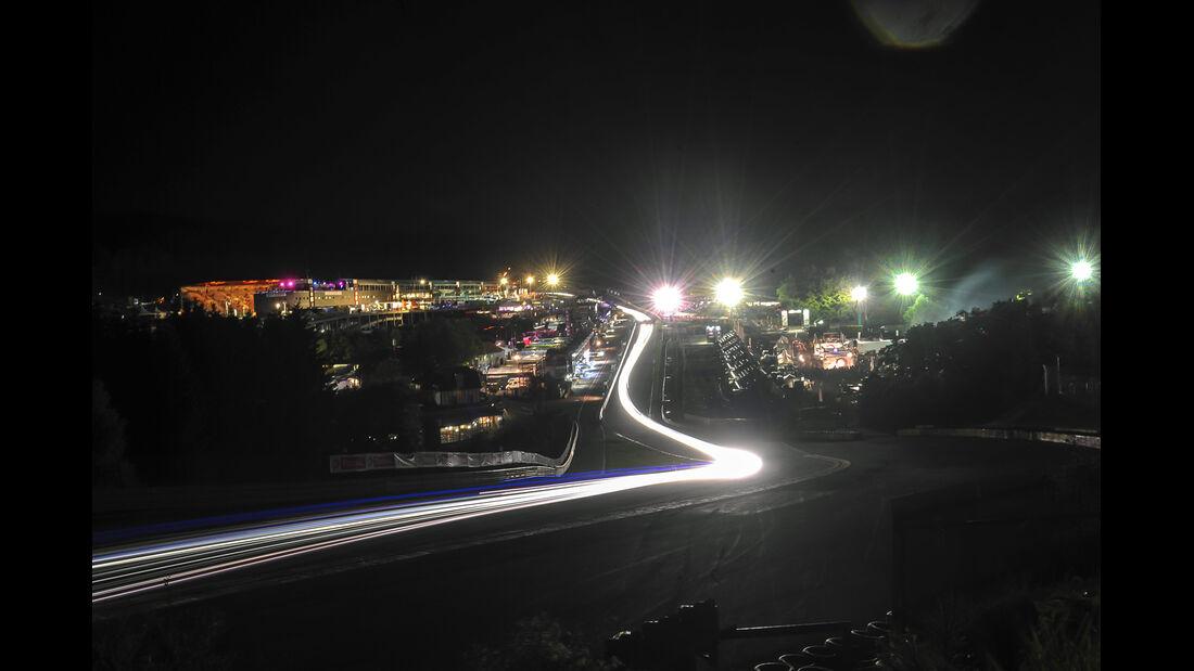 24 h Spa, Nachtfahrt, Impressionen