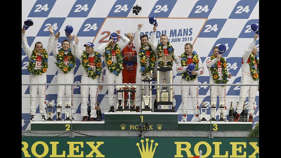 24h Le Mans 2010 Podium