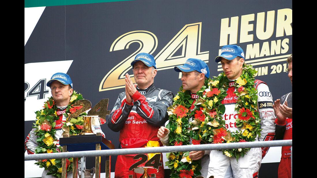 24h Le Mans, Podest, Siegerpodest