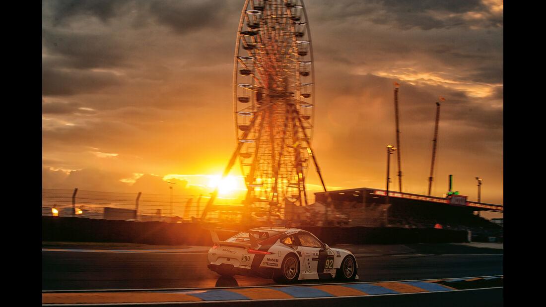 24h Le Mans, Porsche, Sonnenaufgang