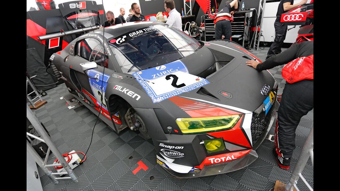 24h-Nürburgring - Nordschleife - Audi R8 LMS - Audi Sport Team WRT - Klasse SP 9 - Startnummer #2