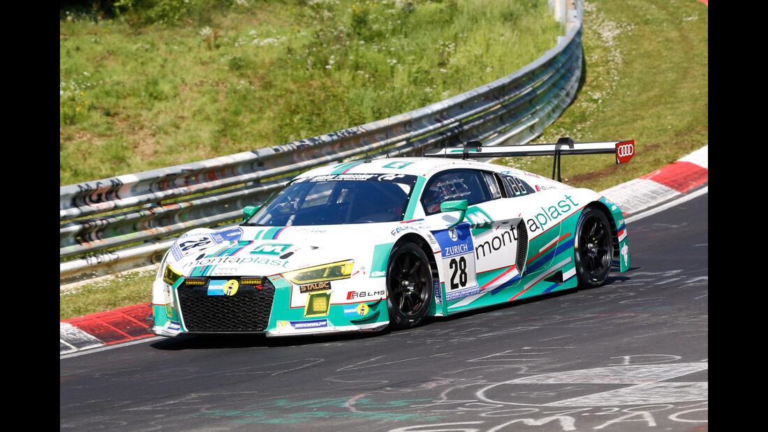 24h-Nürburgring - Nordschleife - Audi R8 LMS - Montaplast by Land-Motorsport - Klasse SP 9 - Startnummer #28