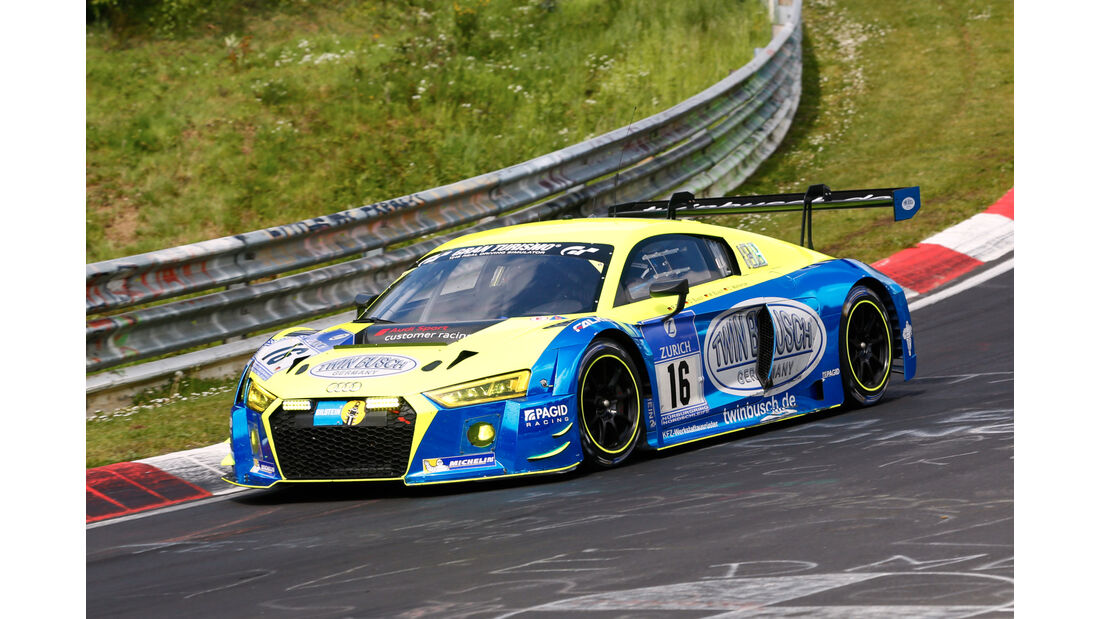 24h-Nürburgring - Nordschleife - Audi R8 LMS - Twin Busch Motorsport - Klasse SP 9 - Startnummer #16