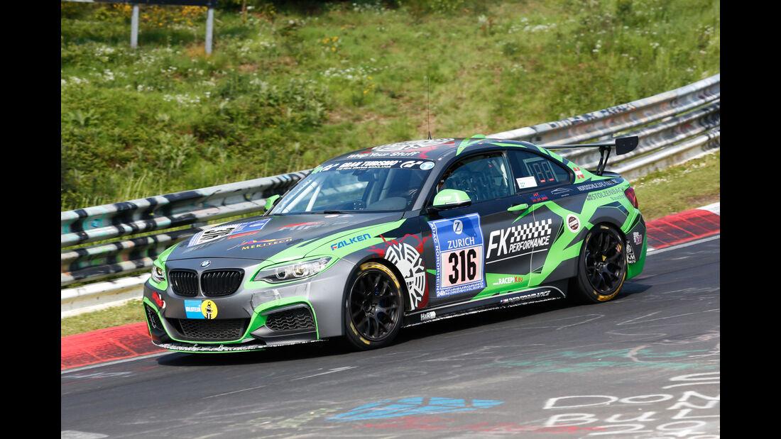 24h-Nürburgring - Nordschleife - BMW M235i Racing Cup - FK Performance - Klasse Cup 5 - Startnummer #316