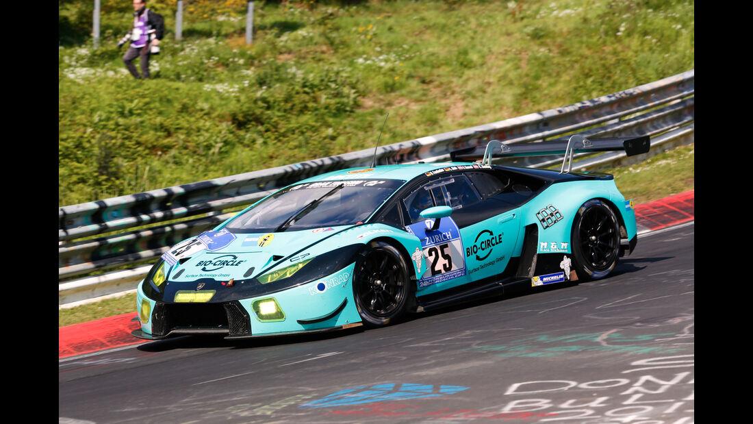24h-Nürburgring - Nordschleife - Lamborghini Huracan GT3 - Konrad Motorsport GmbH - Klasse SP 9 - Startnummer #25