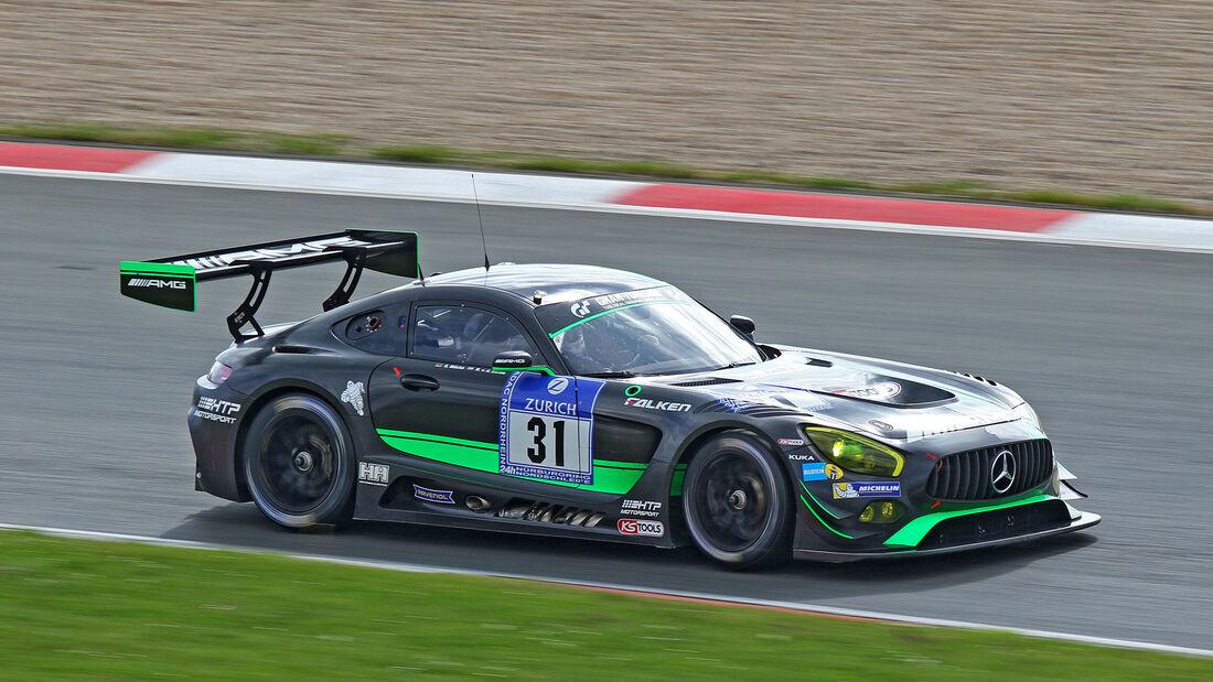 24h-Nürburgring - Nordschleife - Mercedes-AMG GT3 - AMG-Team HTP Motorsport - Klasse SP 9 - Startnummer #31