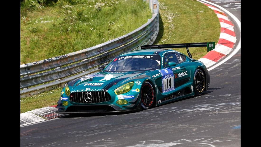 24h-Nürburgring - Nordschleife - Mercedes-AMG GT3 - Black Falcon - Klasse SP 9 - Startnummer #14