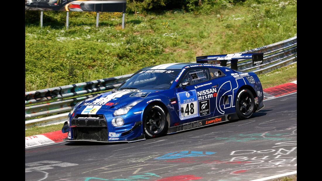 24h-Nürburgring - Nordschleife - Nissan GT-R - Schulze Motorsport - Klasse SP 8T - Startnummer #48