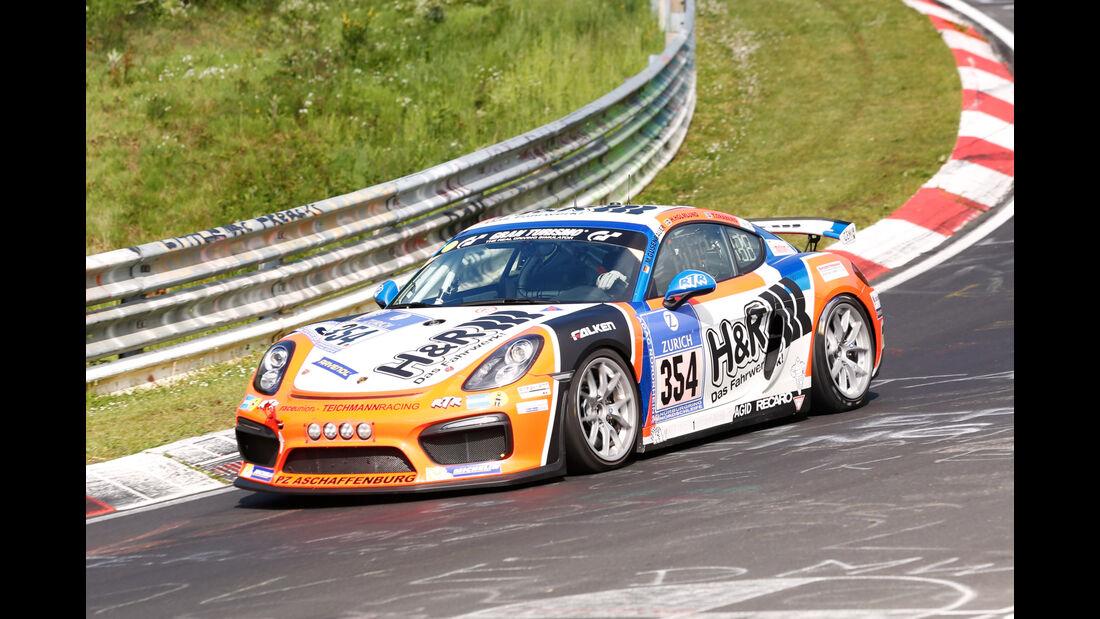 24h-Nürburgring - Nordschleife - Porsche 981 Cayman GT4 CS - raceunion Teichmann Racing - Klasse Cup 3 - Startnummer #354
