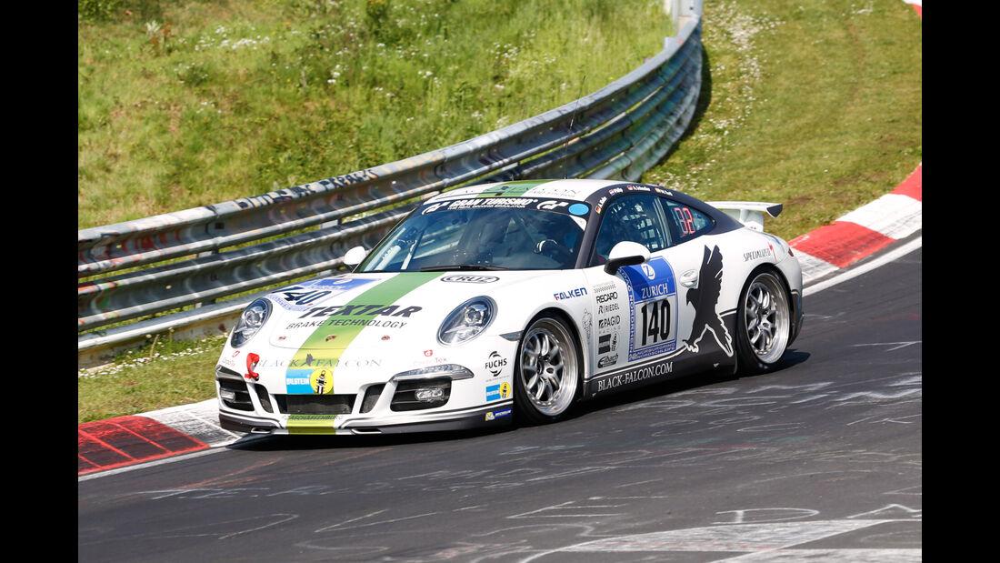24h-Nürburgring - Nordschleife - Porsche 991 - Black Falcon Team TMD Friction - Klasse V 6 - Startnummer #140