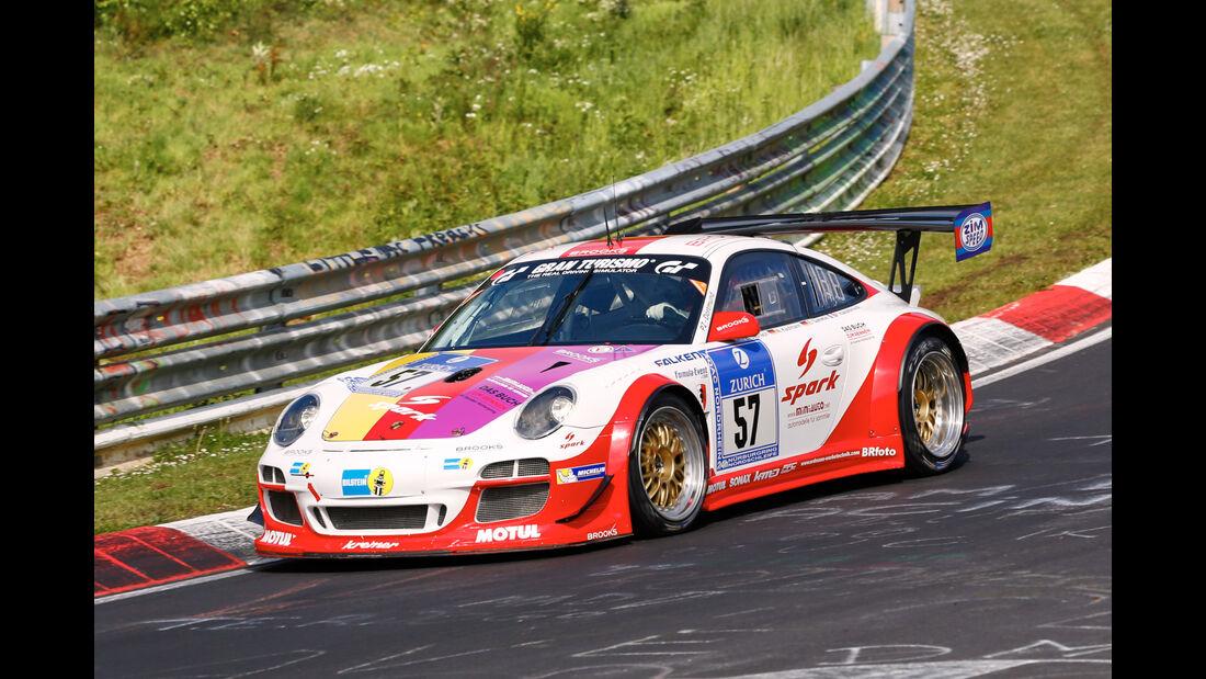 24h-Nürburgring - Nordschleife - Porsche 991 KR - Kremer Racing - Klasse SP 7 - Startnummer #57