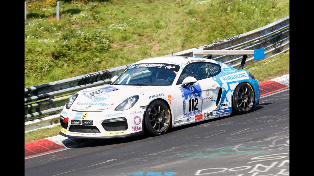 24h-Nürburgring - Nordschleife - Porsche Cayman GT4 - Care For Climate - Klasse AT - Startnummer #112
