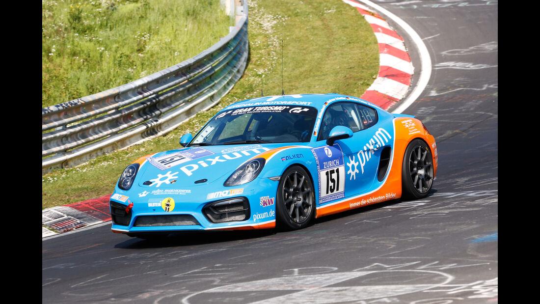 24h-Nürburgring - Nordschleife - Porsche Cayman - Pixum Team Adrenalin Motorsport - Klasse V 5 - Startnummer #151