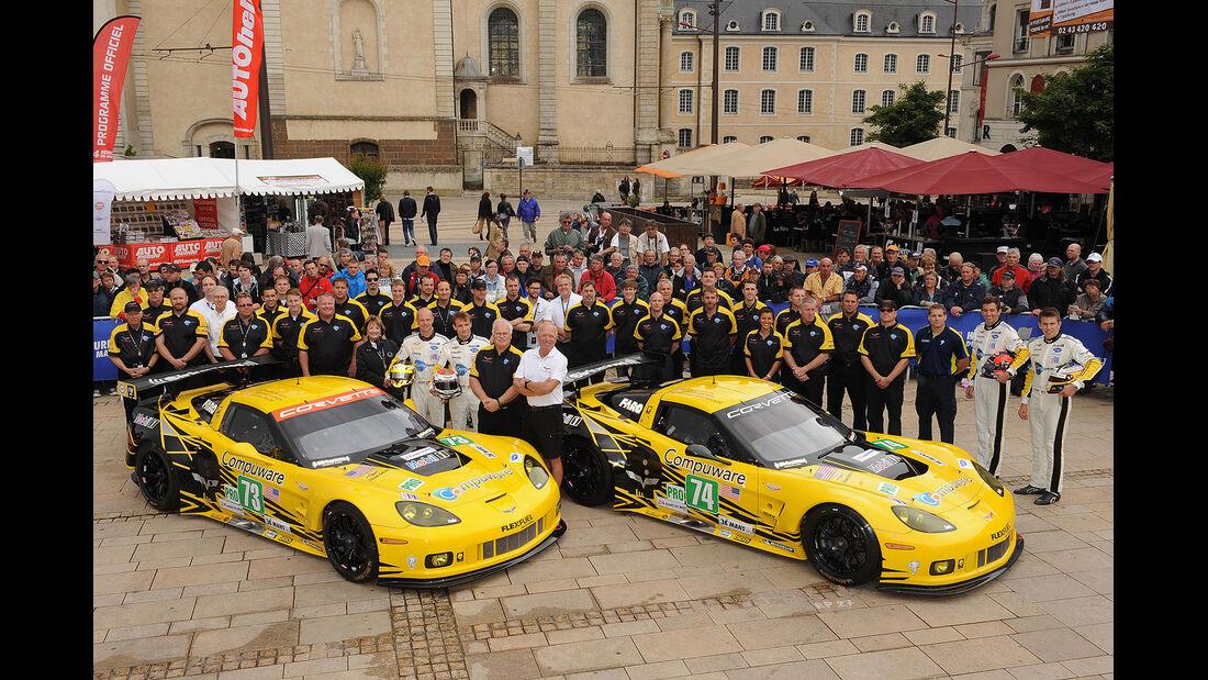 24h-Rennen LeMans 2012,Chevrolet Corvette C6 ZR1, No.74, LMGTE Pro