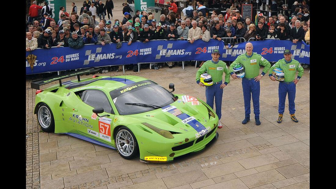 24h-Rennen LeMans 2012,Ferrari 458 Italia, No.57, LMGTE Am