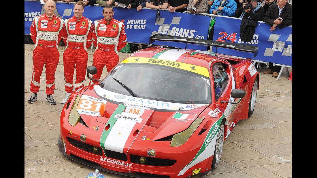 24h-Rennen LeMans 2012,Ferrari 458 Italia, No.81, LMGTE Am