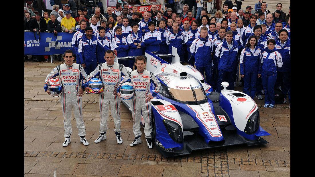 24h-Rennen LeMans 2012,Toyota TS 030 - Hybrid, No.8, LMP1