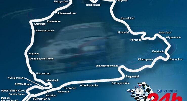 24h Rennen N�rburgring Strecke