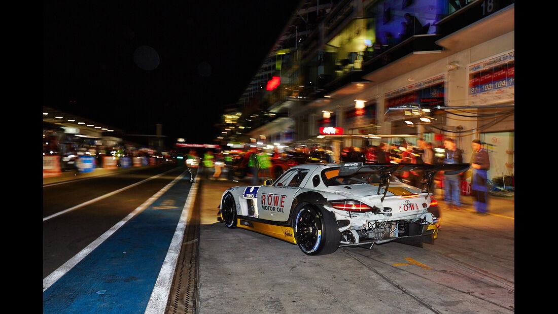 24h-Rennen Nürburgring 2014 - Unfälle - Mercedes SLS AMG GT3
