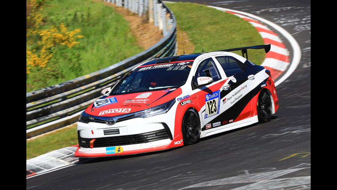 24h-Rennen Nürburgring 2017 - Nordschleife - Startnummer 123 - Toyota Corolla Altis - Toyota Gazoo Racing Team Thailand - Klasse SP 3