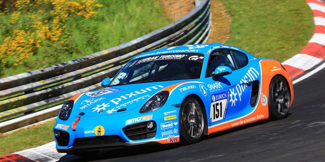24h-Rennen Nürburgring 2017 - Nordschleife - Startnummer 151 - Porsche Cayman - Pixum Team Adrenalin Motorsport - Klasse V 5