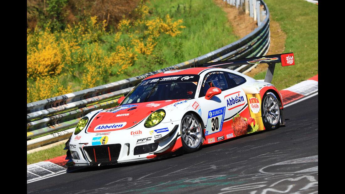 24h-Rennen Nürburgring 2017 - Nordschleife - Startnummer 30 - Porsche 911 GT3 R - Frikadelli Racing - Klasse SP 9