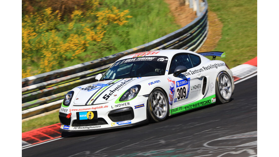 24h-Rennen Nürburgring 2017 - Nordschleife - Startnummer 309 - Porsche Cayman GT4 CS - Arkenau Motorsport - Klasse Cup 3