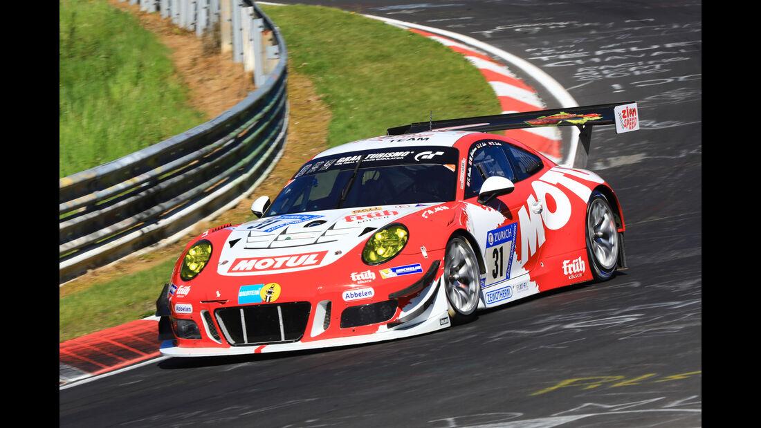 24h-Rennen Nürburgring 2017 - Nordschleife - Startnummer 31 - Porsche 911 GT3 R - Frikadelli Racing Team - Klasse SP 9
