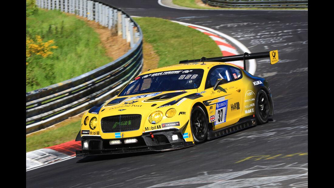 24h-Rennen Nürburgring 2017 - Nordschleife - Startnummer 37 - Bentley Continental GT3 - Bentley Team Abt - Klasse SP 9 LG